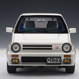 AUTOart - 1983 Honda City Turbo II White w/Motocompo 1:18th Scale Replica Model