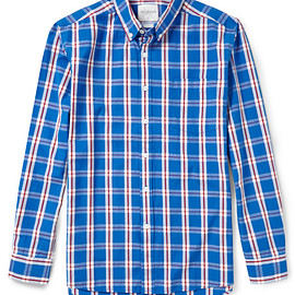 Saturdays Surf NYC - Saturdays Surf Nyc Crosby Slimfit Plaid Cotton Shirt in Blue for Men