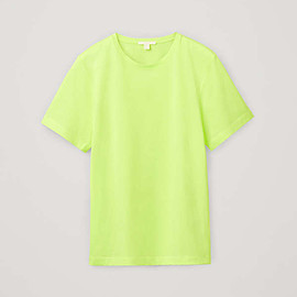 COS - cotton round neck t-shirt - bright yellow