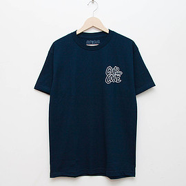cup and cone - Logo Tee - Navy x White [Relaxed Fit]