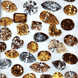 Naturally Colored Diamonds (to put in your pocket for good luck)