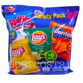 Fritolay - バラェティパック 4種類×24PACK COSTCO