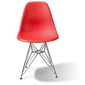 Herman Miller - Eames Molded Plastic Eiffel Side Chair (Red) by Charles & Ray Eames