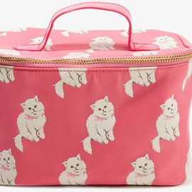 FOREVER 21 - FOREVER 21 Cat Print Cosmetic Bag