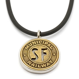 Tokens & Icons - San Francisco Transit Token Pendant by Tokens & Icons