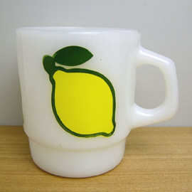 Fire King - Stacking Mug Super Fruit Lemon