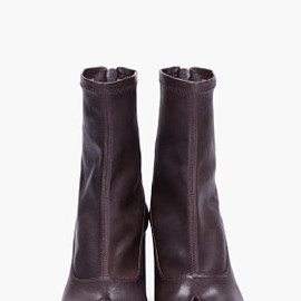 MAISON MARTIN MARGIELA - Dark Brown Leather Tabi Boots