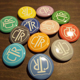 Luulla - CTR Buttons 12 Pack - 1 1/4 Inch Pinback Buttons