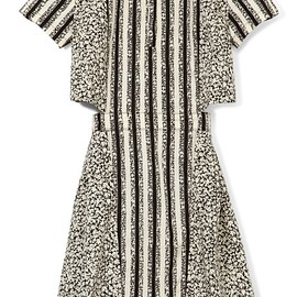 Suno. - Button Collar Cutout Dress