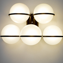 Gino Safatti - Wall lamp, 5 Globes, ca.1960 for Artecluce