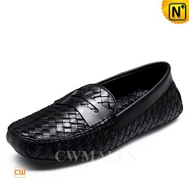 cwmalls - CWMALLS Woven Leather Penny Loafers CW706159