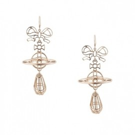Vivienne Westwood - THIN LINES 3D ORB BOW EARRINGS  1