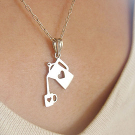 smilingsilversmith - necklace for coffee lover