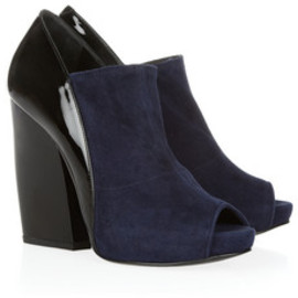 Pierre Hardy - Glossed-leather and suede ankle boots