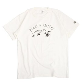 ENDS and MEANS Peaks & Valleys Tee NAVY