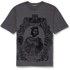 DOLCE&GABBANA - FW2014 RUGGERO I FLOCKED COTTON T-SHIRT
