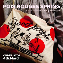 """Good people&Good coffee - """"POIS ROUGES SPRING"""" SACOCHE"""