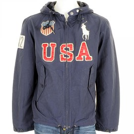 POLO RALPH LAUREN - USA Athens Hood Nylon Jacket Navy