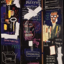 Jean-Michel Basquiat - Horn Player  1983