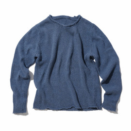 SOPHNET. - INDIGO ROLL NECK KNIT