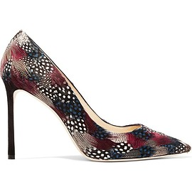 Jimmy Choo - Romy feather-embellished suede pumps