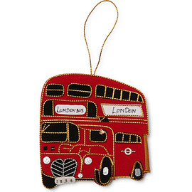 Selfridges - London Bus tree decoration 9cm