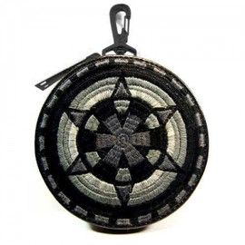 blackmeans - Embroidely Circle Pouch x FUUDOBRAIN BLACK 2ND