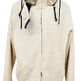 dirtytoy - Masked Boa Zip Up Hoodie / Beige