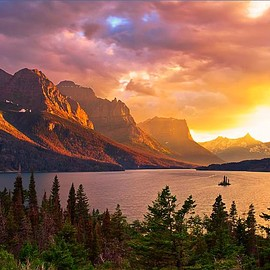 Glacier National Park, Montana - Saint Mary Lake