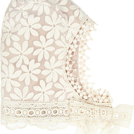 ANNA SUI - Embroidered organza bonnet