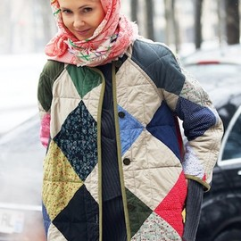 Too cute patchwork coat!!!