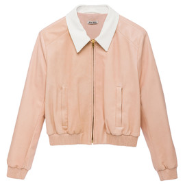 miu miu - Opaque washed nappa leather lined blouson