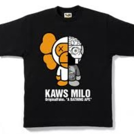 A BATHING APE - KAWS MILO TEE Grey