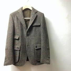 HYPERION - Hunting Jacket Fabric by Harris Tweed HAND WOVEN