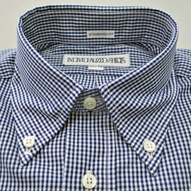 INDIVIDUALIZED SHIRT - INDIVIDUALIZED SHIRTS Small Gingham Check Navy