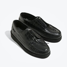 Engineered Garments - EG X SEBAGO COVERDECK - BLACK COMBO -