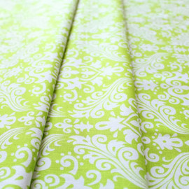 Riley Blake - Hollywood Med Damask White on Lime C830-32