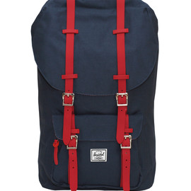 Herschel Supply Co. - LITTLE AMERICA BACKPACK IN NAVY WITH RED RUBBER STRAPS