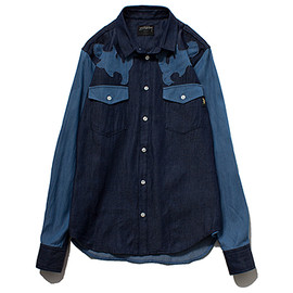 STUSSY WOMEN - Denim Patch Shirt