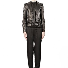 ALEXANDER WANG - LEATHER MOTO JACKET