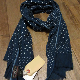 RRL - Selvedge Blue Dot Scarf