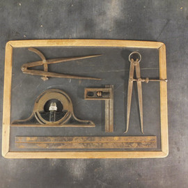 Old Drafting Measuring Tools
