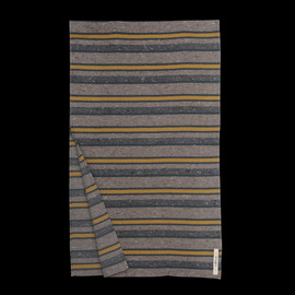 the Hill-side - Striped Wool Blend Blanket Lining Scarf