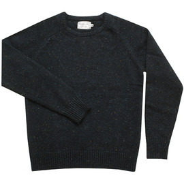 Navy Crewneck Jumper with Speckle