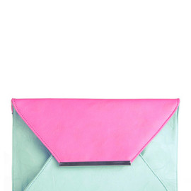 Mail Me to Miami Clutch - Blue, Purple, Color Block, 80s, Party, Vintage Inspired
