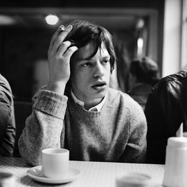 Mick Jagger - Mick Jagger with coffee and cigarette