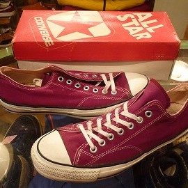 "converse - 「<used>80's converse ALLSTAR OX maroon""made in USA"" W/BOX size:US10/h(29cm) 18800yen」完売"