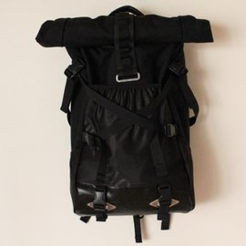RIDE BAG - OFUKUROSAN BLACK CORDURA NYLON × LETHER