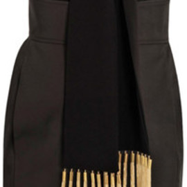 Altuzarra - Vani Gold Fringe Halterneck Dress