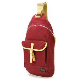 "HEAD PORTER - ""LX"" ONE SHOULDER BURGUNDY"
